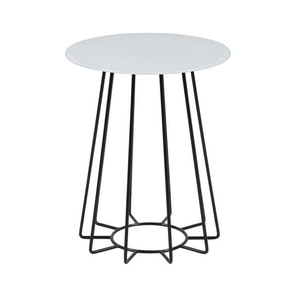 Príručný stolík s doskou z temperovaného skla Actona Casia, ⌀ 40 cm