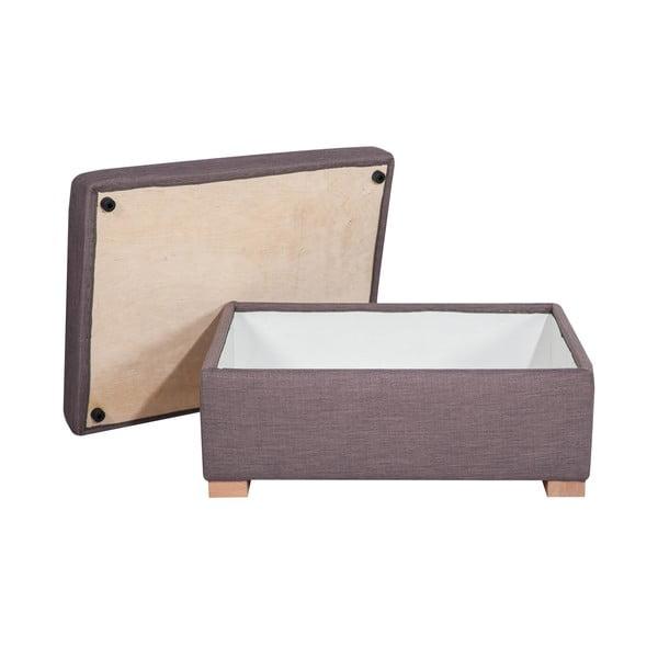 Taburetka s úložným prostorem A-Maze, šedá