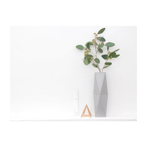 Skládací origami váza SNUG.Grey