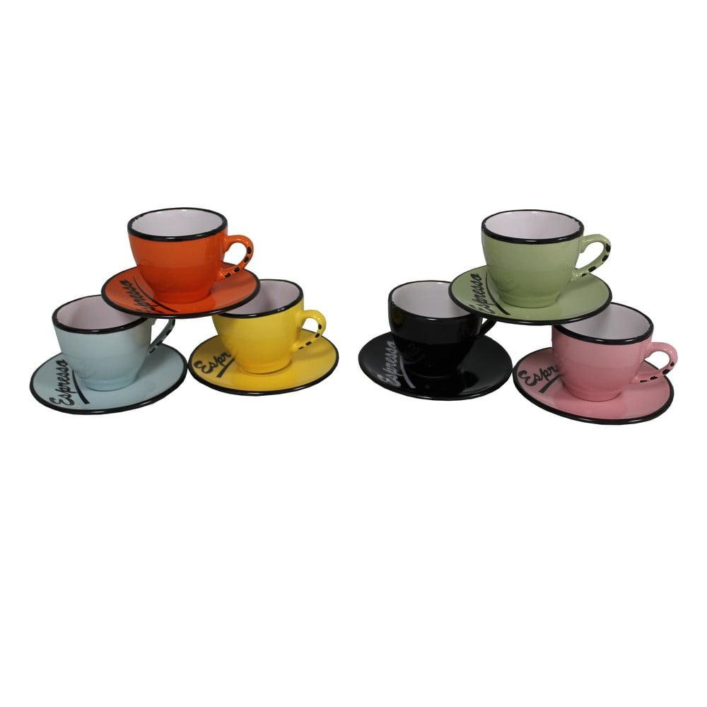 Sada 6 hrnků s podšálky Antic Line Espresso Antic Line