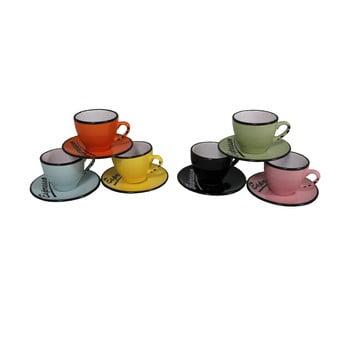 Set 6 cești cu farfurie Antic Line Espresso de la Antic Line