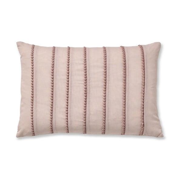 Růžový povlak na polštář Catherine Lansfield Blush, 30x40cm