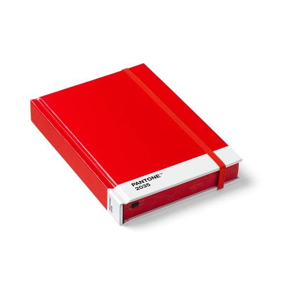 Set 2 caiete mici Pantone, roșu
