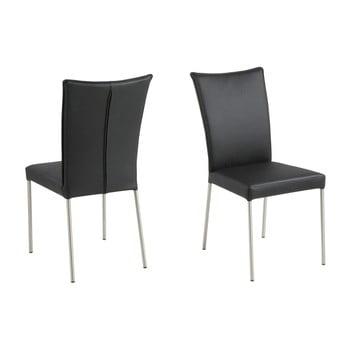 Set 2 scaune Actona Abna, negru