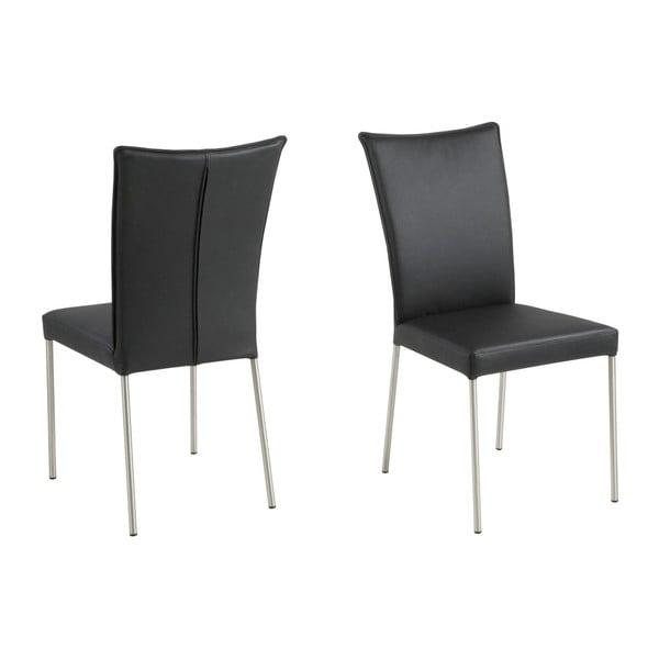 Sada 2 černých jídelních židlí Actona Alexa
