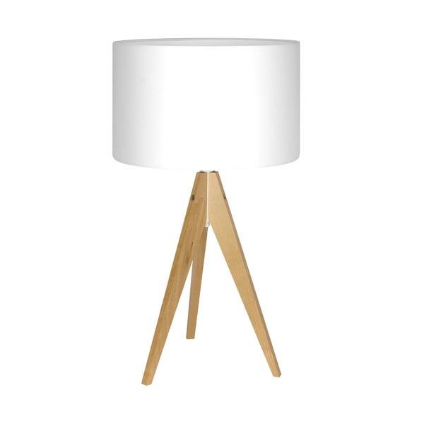 Stolní lampa Artist White/Birch, 40x33 cm