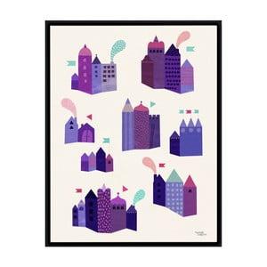 Plakát Houses, 50x70 cm