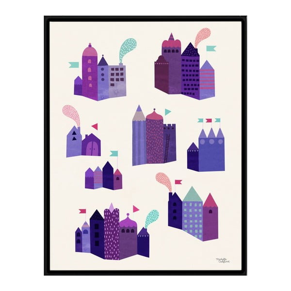 Plakát Houses, 30x40 cm