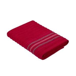 Červený ručník z bavlny Bella Maison Stripe, 30 x 50 cm
