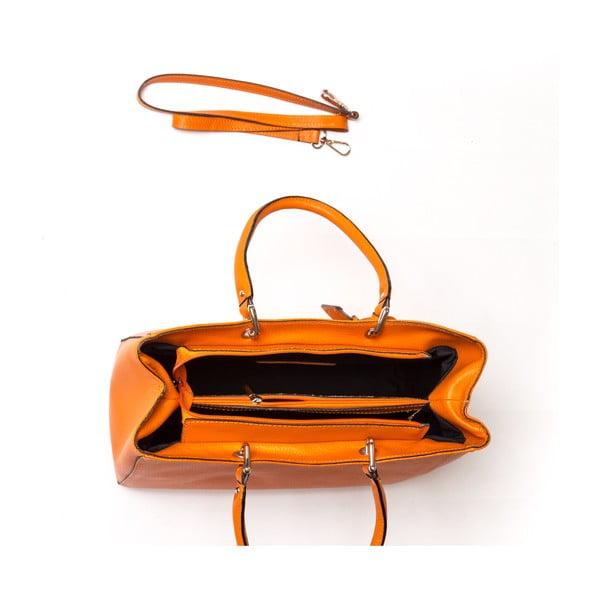 Kožená kabelka Carla Ferreri 168 Arancio