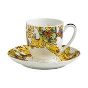 Ceașcă cu farfurie pentru espresso Maxwell&William Rococo, 195 ml