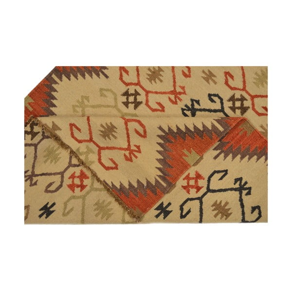 Ručně tkaný koberec Brown Ethno, 140x200 cm