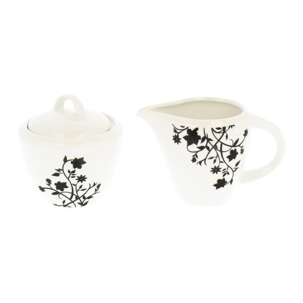 Set mléčenky a dózy na cukr z porcelánu Duo Gift Porto, 350 ml