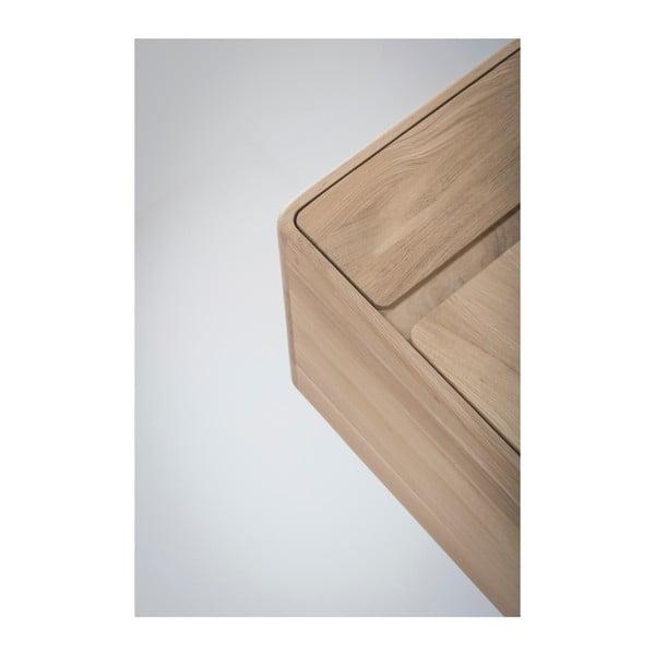Komoda z masivního dubového dřeva se zásuvkou Gazzda Fawn