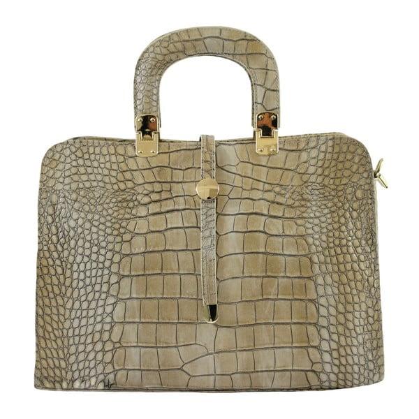 Taupe kožená kabelka Lady