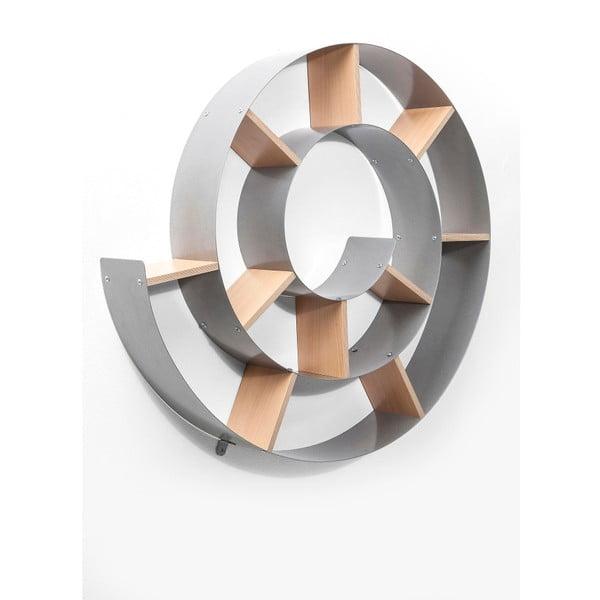 Šedá nástěnná knihovna Kare Design Snail
