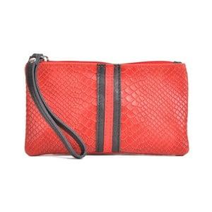 Červené kožené psaníčko Mangotti Bags Studo