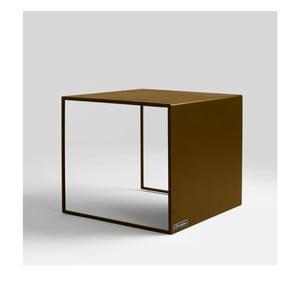 Odkládací stolek ve zlaté barvě Custom Form 2Wall