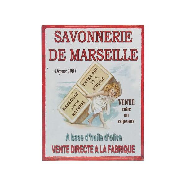 Nástěnná cedule De Marseille, 25x33 cm