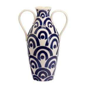 Keramická váza Blue and White, 40 cm