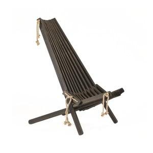 Șezlong ecologic din lemn de pin EcoFurn EcoChair, negru