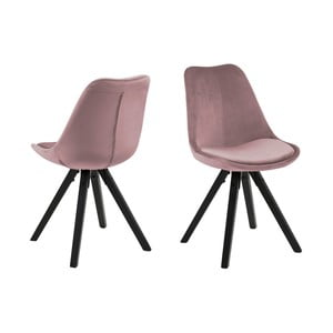 Růžová jídelní židle Actona Dima