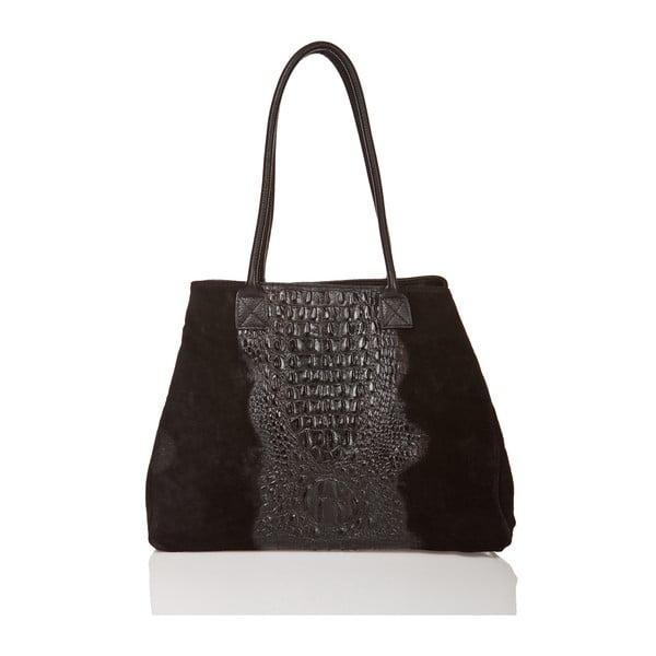 Kožená kabelka Anabela, černá