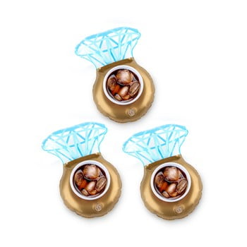 Set 3 suporturi gonflabile pentru pahare Big Mouth Inc. Ring imagine