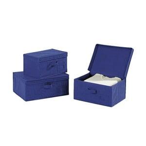 Modrý úložný box Wenko Ocean, délka34cm
