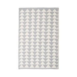 Šedý bavlněný ručně tkaný koberec Pipsa Triangle, 140x200 cm