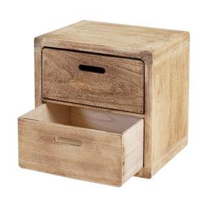 Dřevěná komoda ze světlého dřeva Mendler Shabby Trento