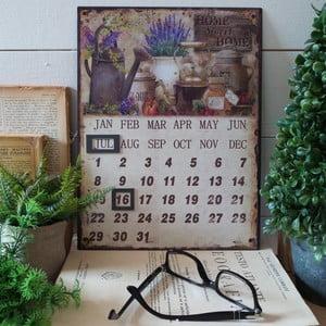 Stolní kovový kalendář Home Sweet Home
