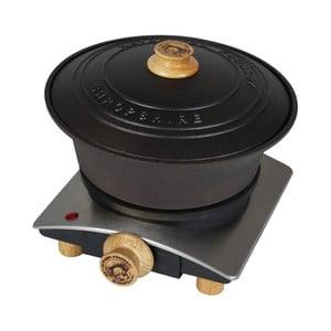 Litinový kastrol s ohřívačem