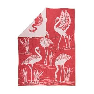 Žakárová deka Flamingo