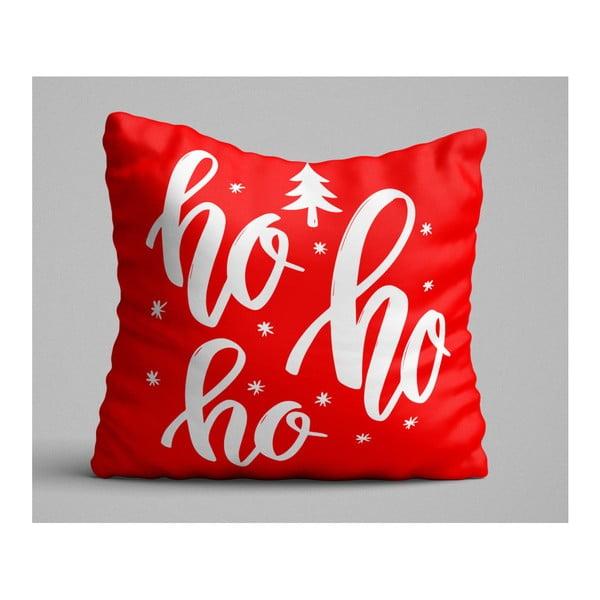 Ho Ho Ho piros díszpárna, 45 x 45 cm
