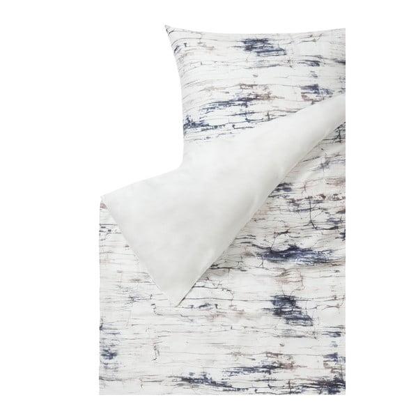 Lenjerie de pat din bumbac satinat Casa Di Bassi, 155 x 220 cm, gri - alb