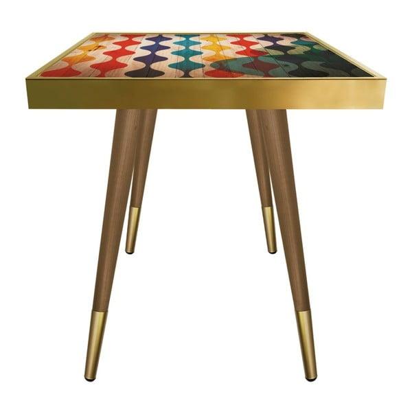 Príručný stolík Caresso Wave Square, 45 × 45 cm