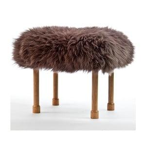 Stolička z ovčí kůže Megan Mink