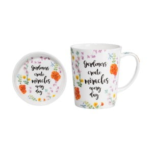 Set hrnku s podnosem z kostního porcelánu Maxwell & Williams Miracles, 400 ml