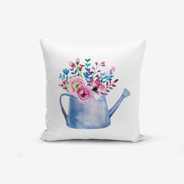 Față de pernă cu amestec din bumbac Minimalist Cushion Covers Aquarelleli Flower, 45 x 45 cm