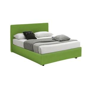 Pat cu spațiu depozitare 13Casa Ninfea, 120 x 190 cm, verde