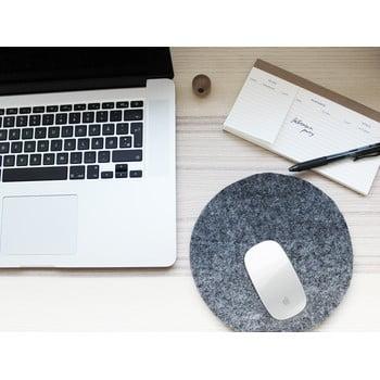 Suport din lână pentru pahar/gadget-uri Wooldot Felt Coaster, ⌀ 30 cm, antracit