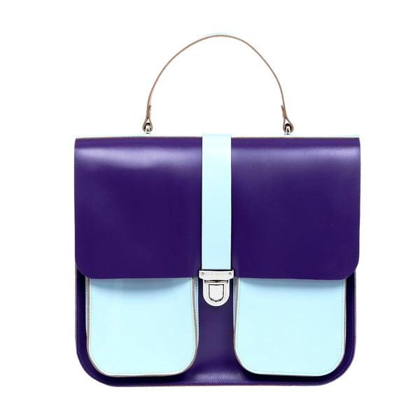Fialovo-modrá kožená kabelka Brix + Bailey Onslow