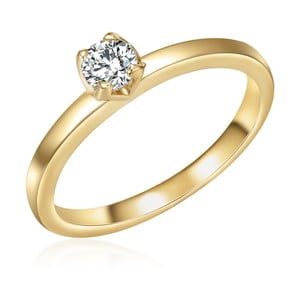 Dámský prsten zlaté barvy Runaway Kim,, 54