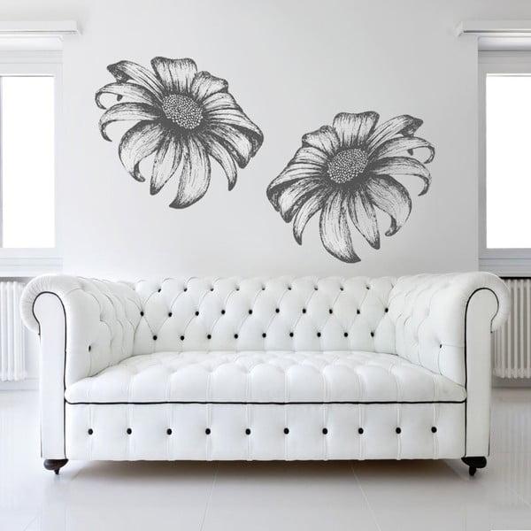 Samolepka na stěnu Dvě slunečnice, 90x60 cm