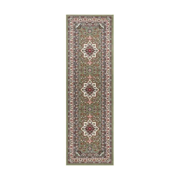 Zelený koberec Nouristan Parun Tabriz, 80 x 250 cm