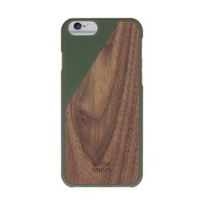 Husă pentru iPhone 7 și 8 Native Union Clic Wooden, verde închis - detalii din lemn
