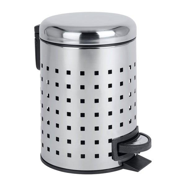 Coș de gunoi cu pedală Wenko Leman, 3 l, argintiu
