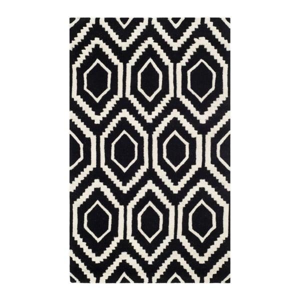 Vlněný koberec Safavieh Essex, 91x152 cm,č erný