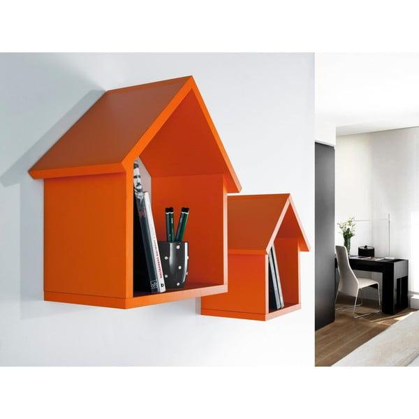 Sada 2 polic Maison, oranžová